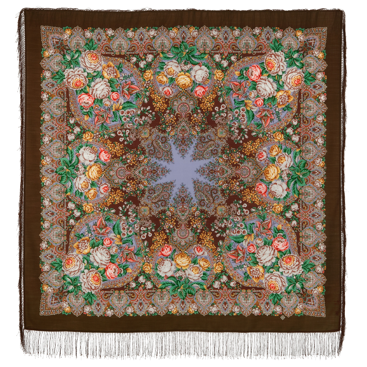 "Russian shawl ""Honey noon 1724-17"""