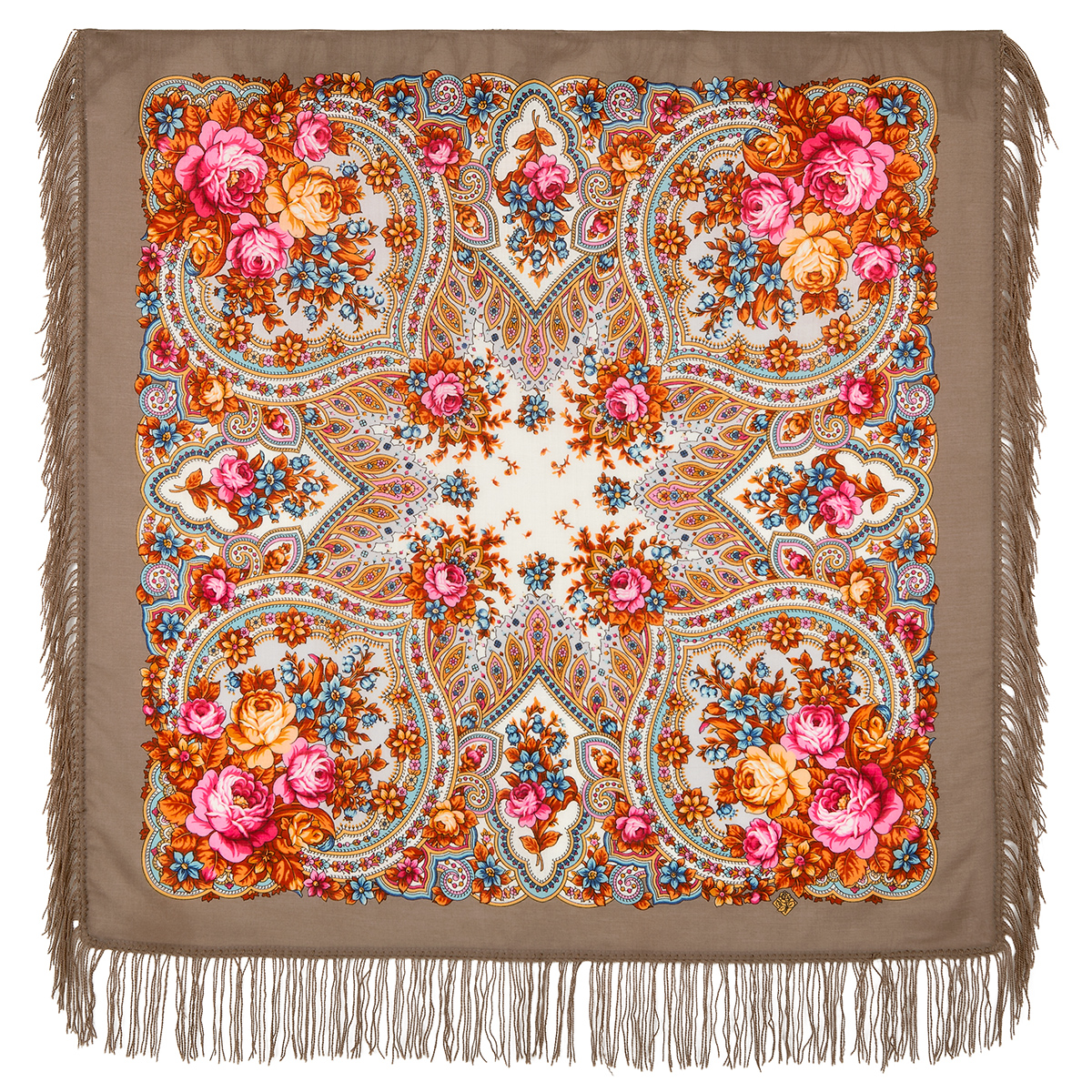 "Russian shawl ""Spring dawns 1706-16"""