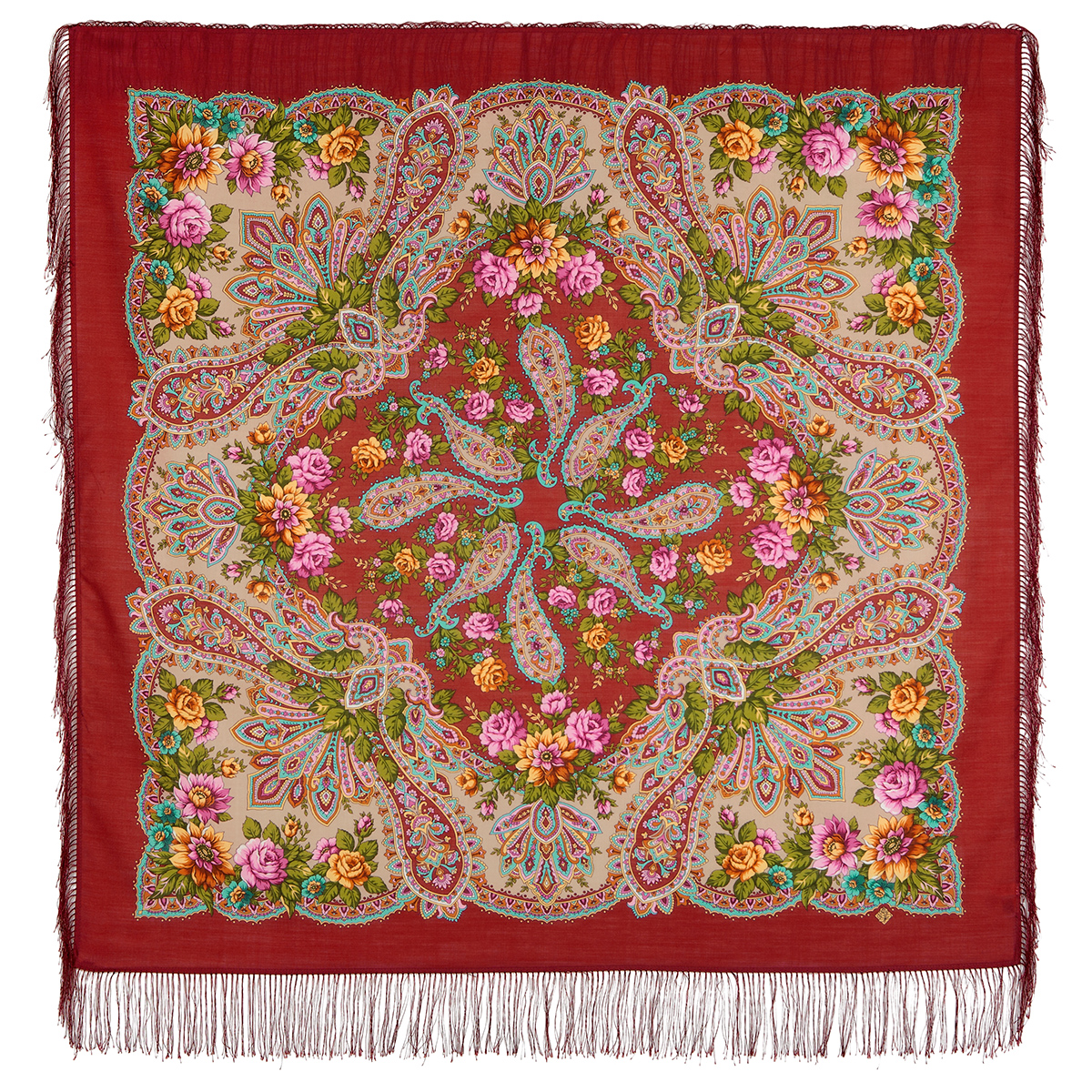"Russian shawl ""In the rays of the sun 1682-6"""