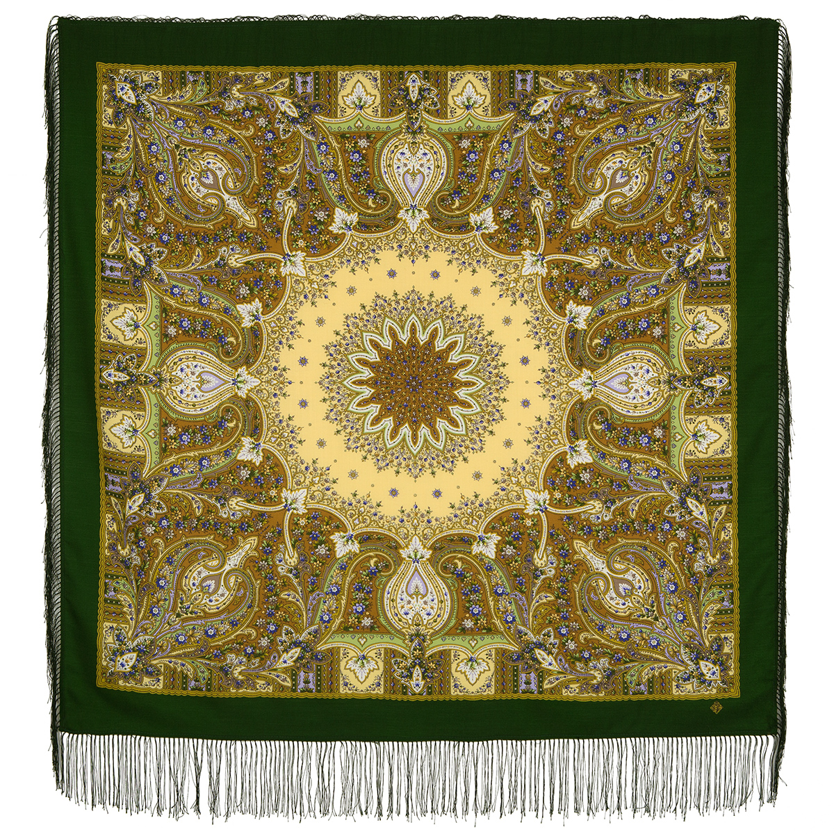 "Russian shawl ""Wild honey 1712-10"""
