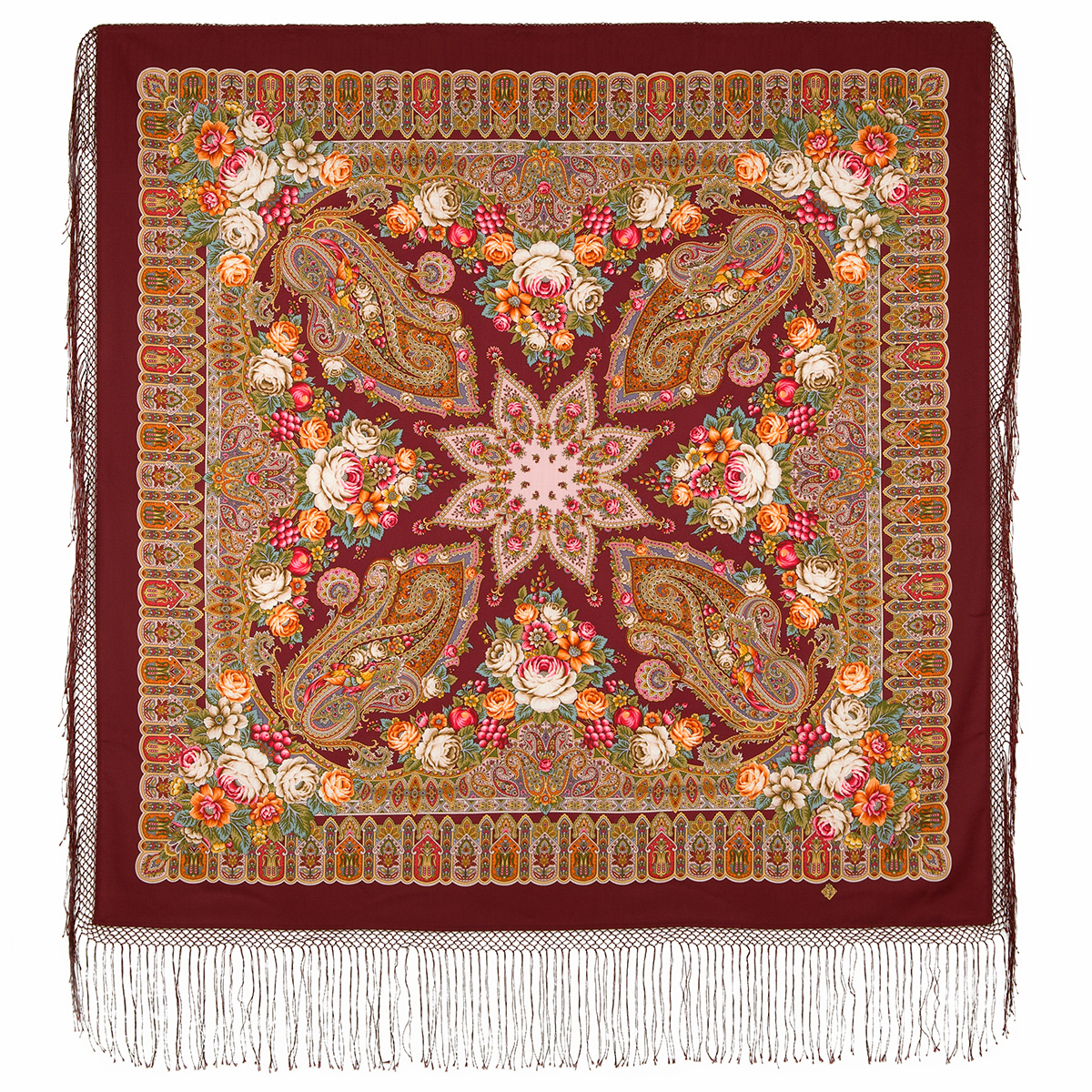 "Russian shawl ""Wondrous dreams garden 1703-6"""
