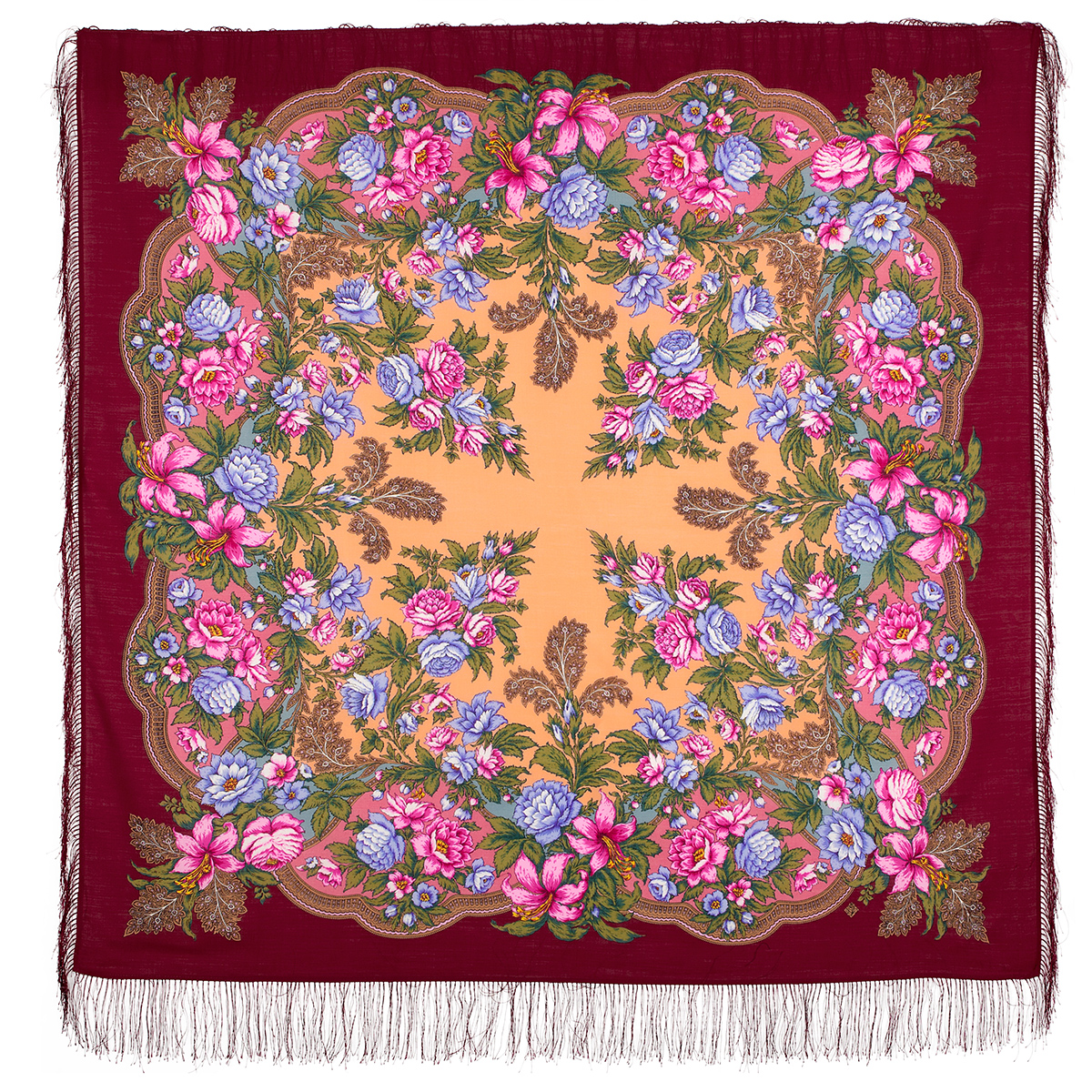 "Russian shawl ""Captivating July 1730-6"""