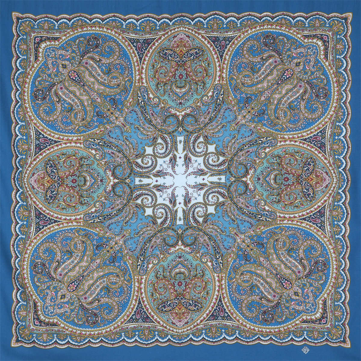 "Russian shawl ""Night Music 1637-13"""