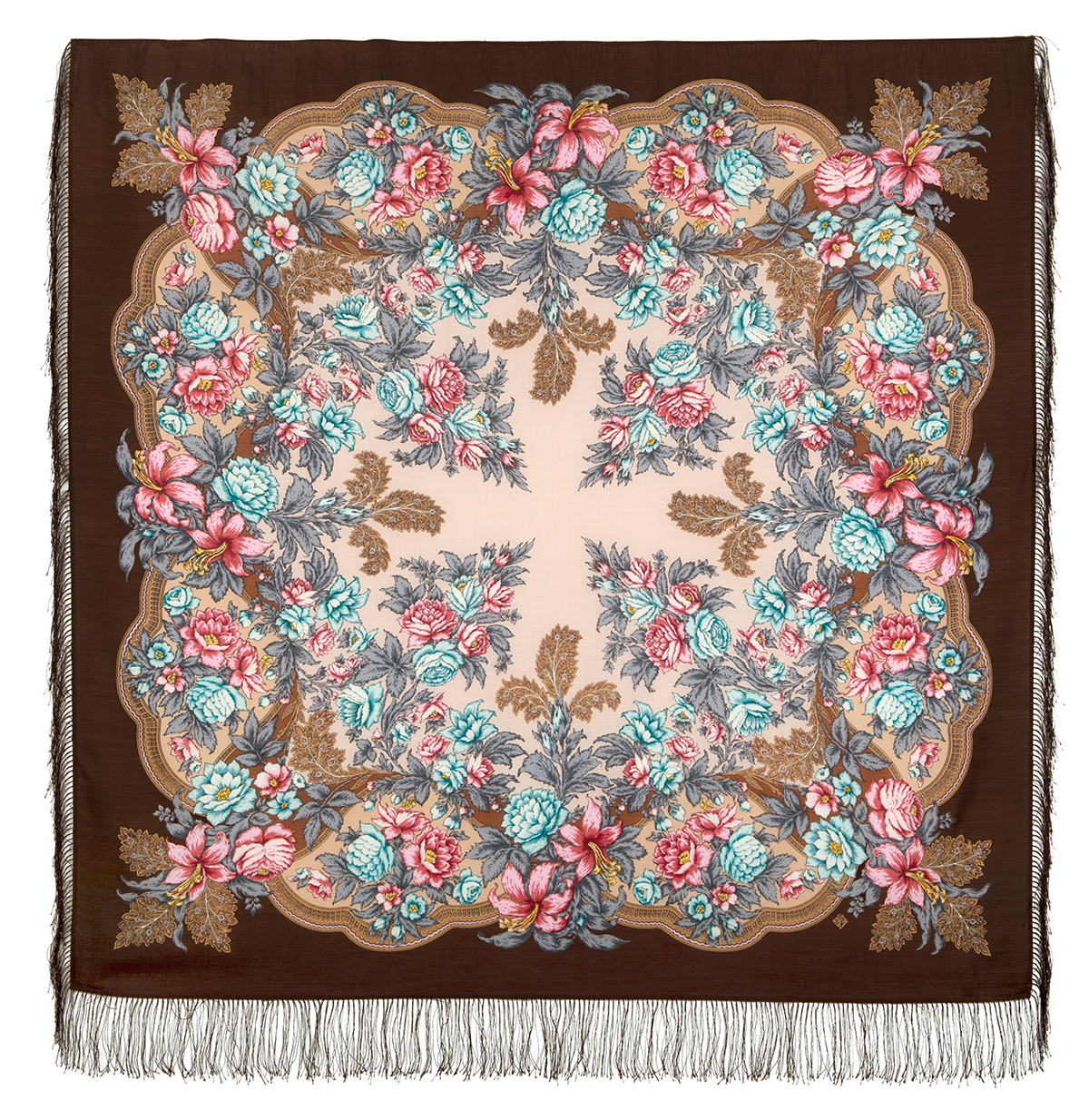 "Russian shawl ""Captivating July 1730-16"""