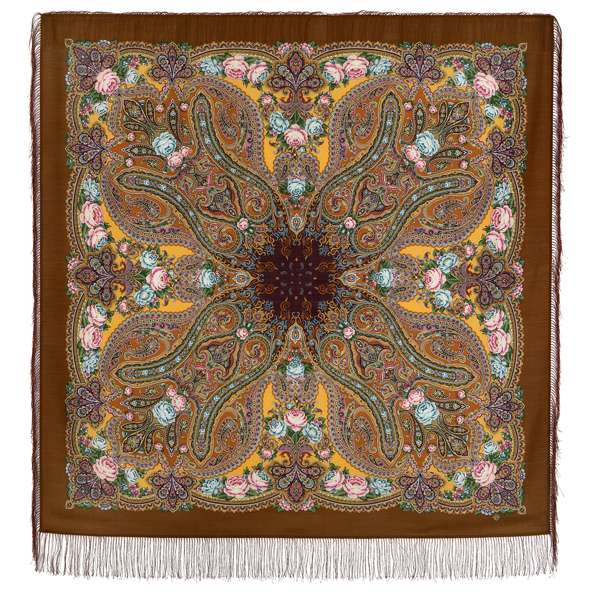 "Russian shawl ""Evening in the homestead 1671-16"""