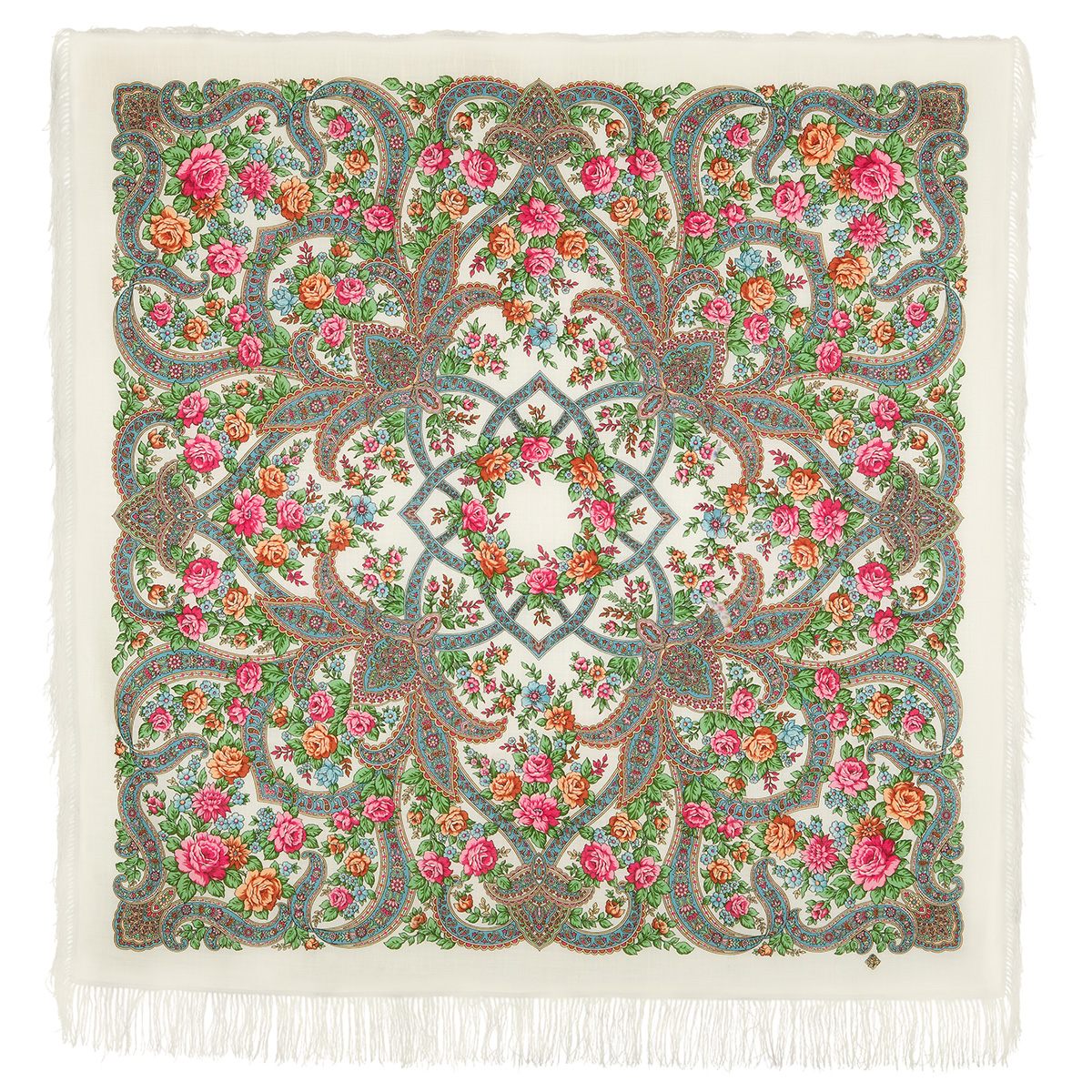 "Russian shawl ""In the world of love 1674-0"""