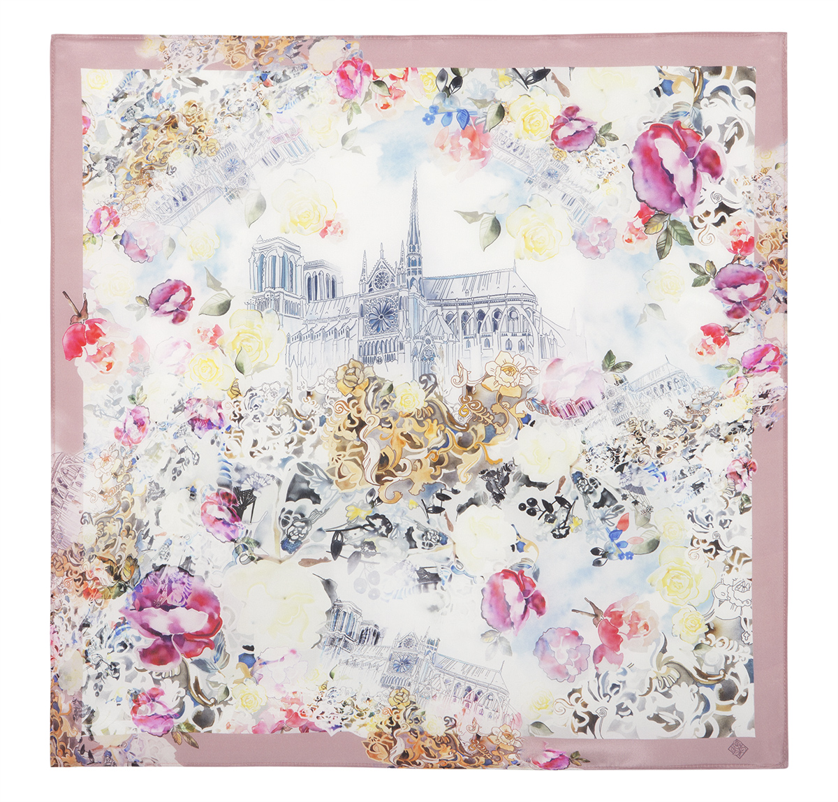 "Russian scarf ""Heavenly castle 10083-2"""