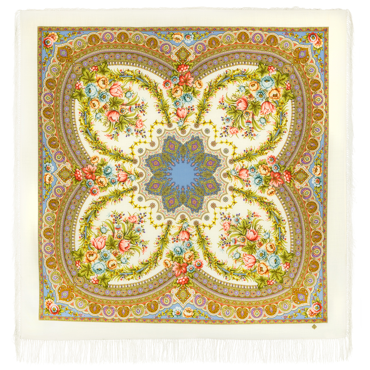 """Russian shawl """"Words of love 1688-3"""""""