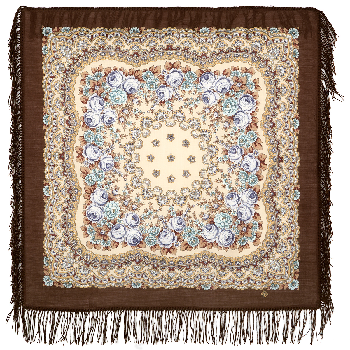 "Russian shawl ""Gentle evening 1195-16"""
