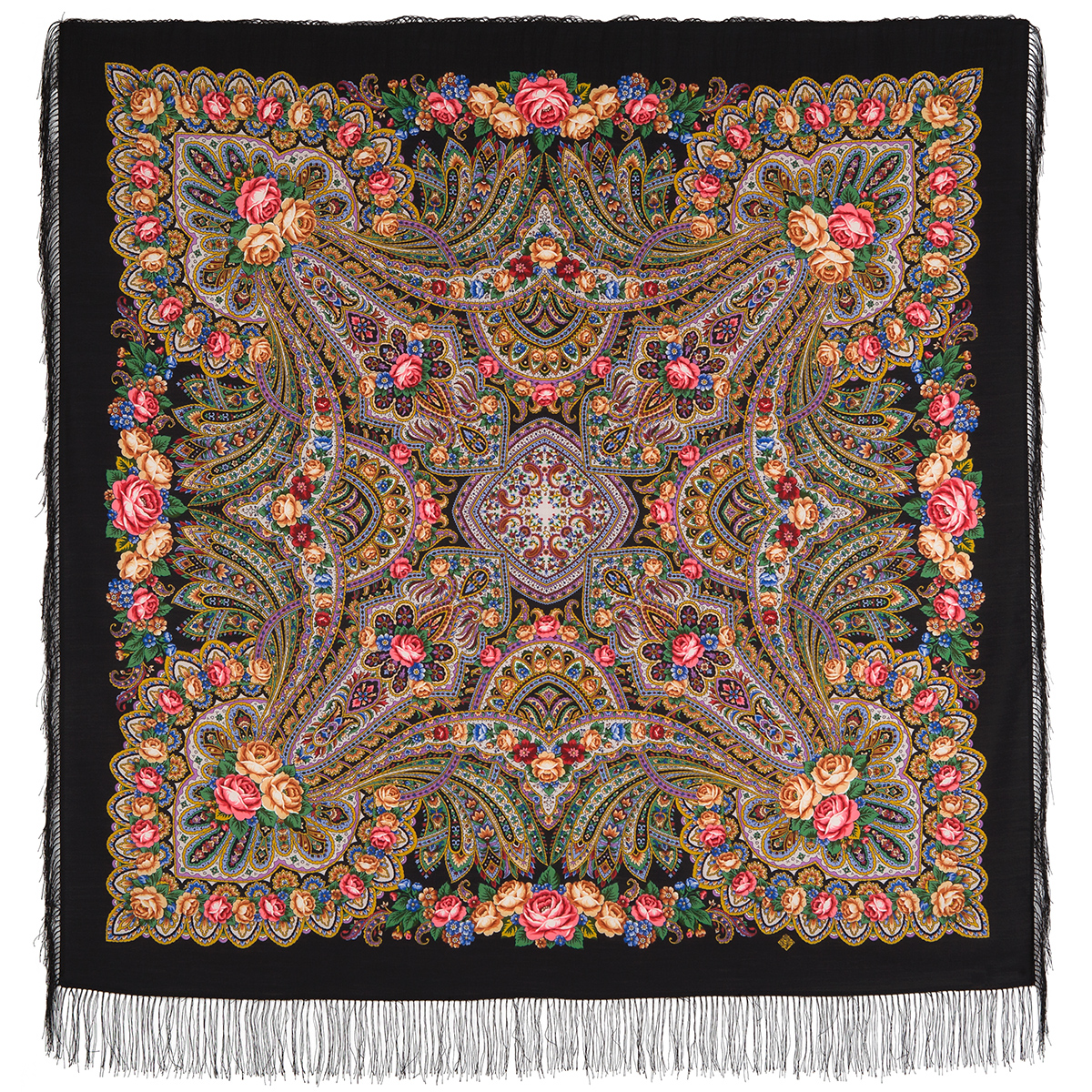 "Russian shawl ""On the wings of tenderness 1653-18"""