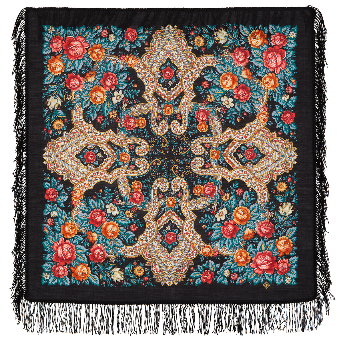 "Russian shawl ""Tender sentiment 1687-18"""