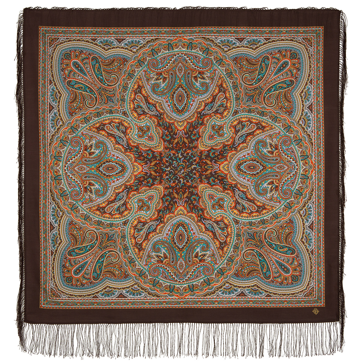 "Russian shawl ""Rain pattern 1695-17"""