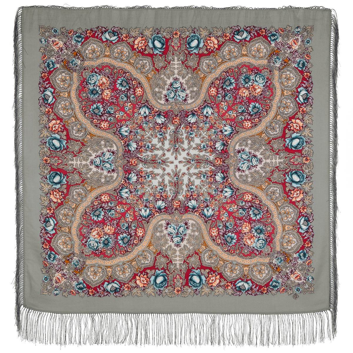 "Russian shawl ""Forest stream 1626-1"""
