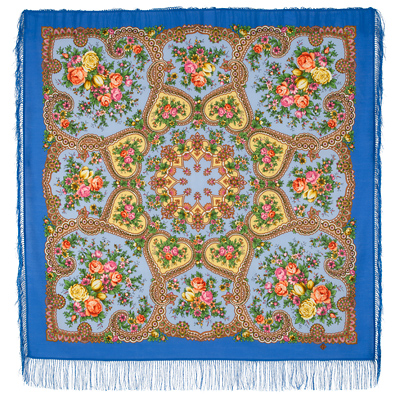 "Russian shawl ""Gentle Heart 1752-13"""