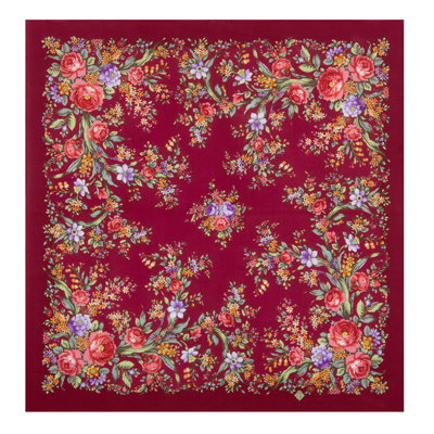 "Russian scarf ""Flower mood 1732-6"""