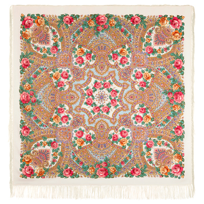 "Russian shawl ""The magic power of love 1723-0"""
