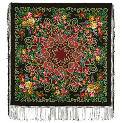 "Russian shawl ""Gypsy girl Aza 362-18"""
