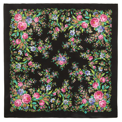 "Russian scarf ""Flower mood 1732-18"""