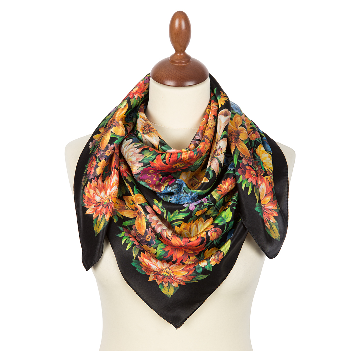 "Russian scarf ""Planet of Flowers 10050-18"""