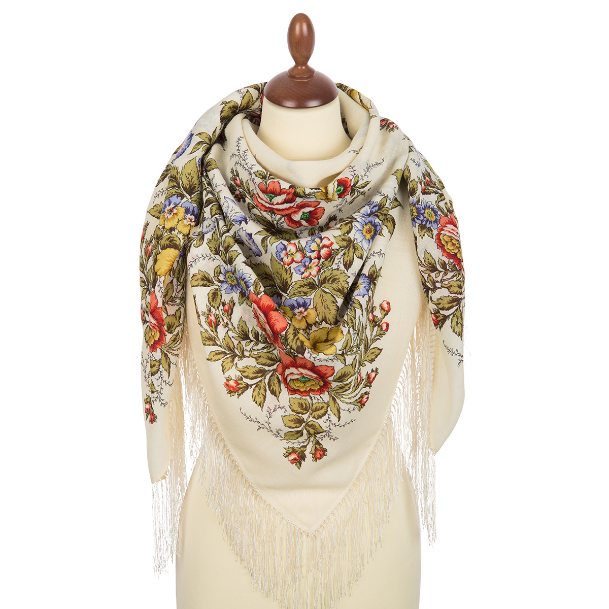 "Russian shawl ""Tenderness of morning 1594-3"""