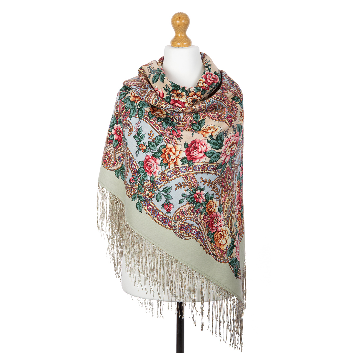 "Russian shawl ""The River of Love 1773-1"""