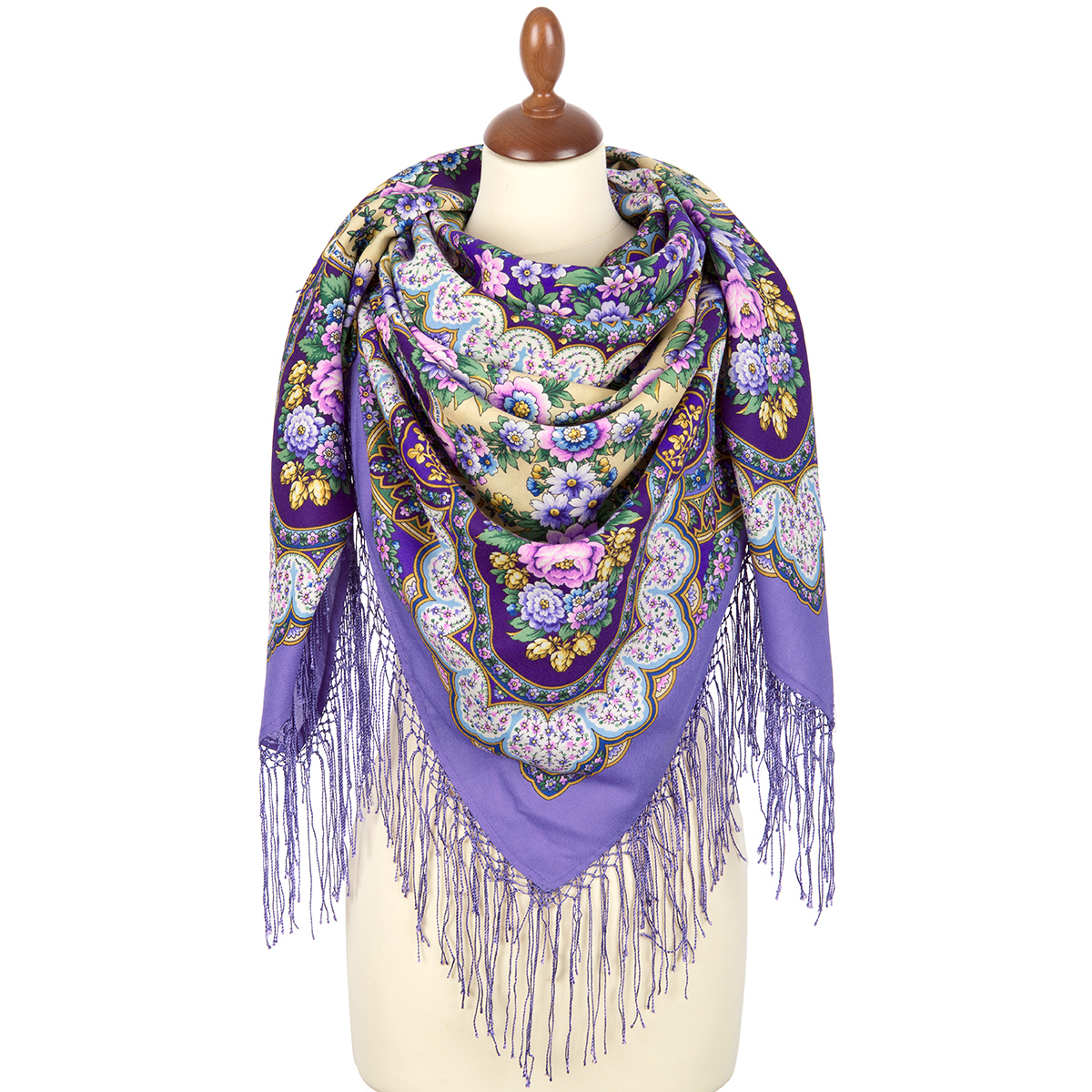 "Russian shawl ""Rain 1779-15"""