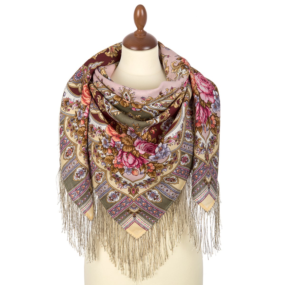 """Russian shawl """"Mysterious image 1782-53"""""""