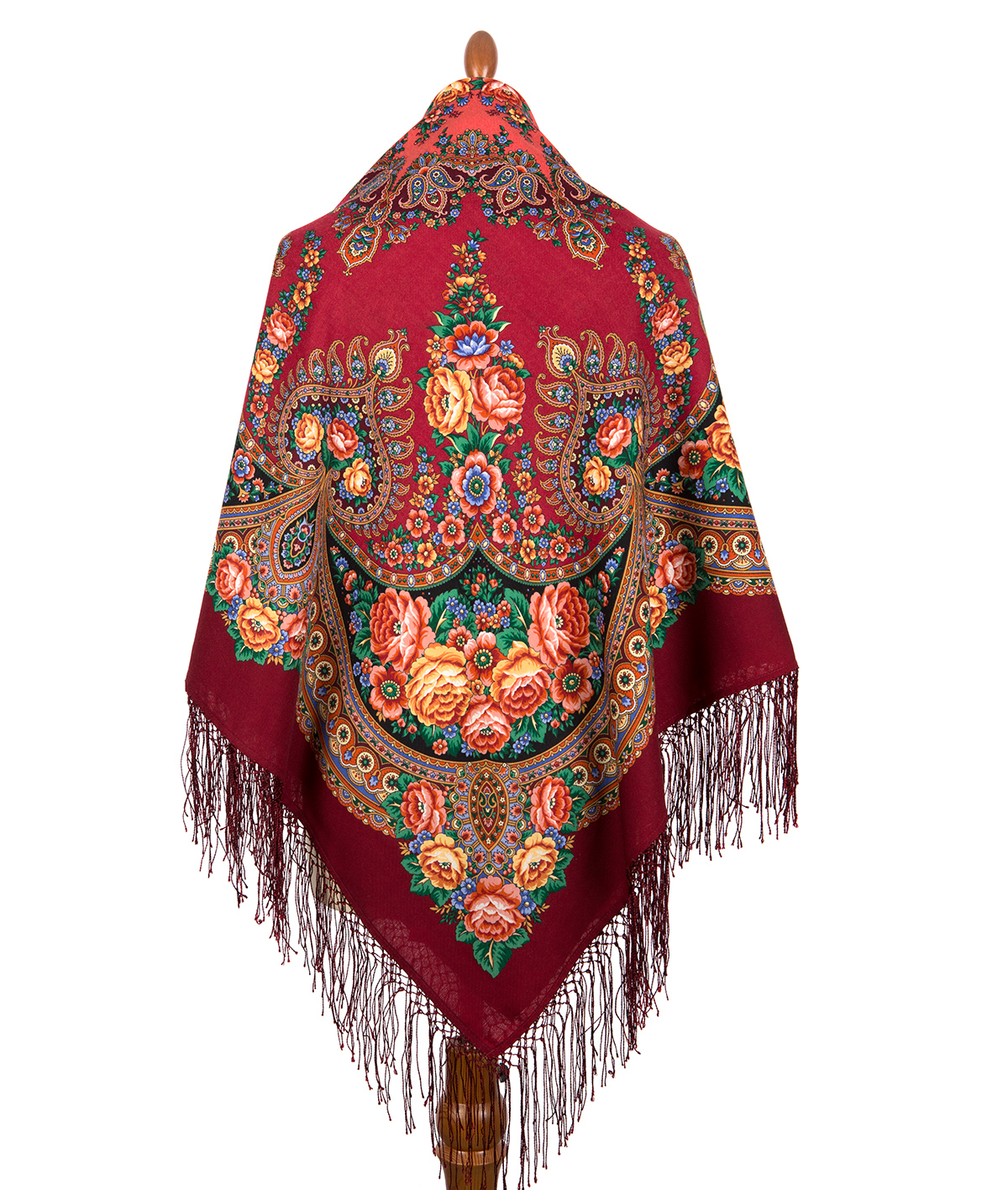 "Russian shawl ""Flame of the Heart 1786-6"""