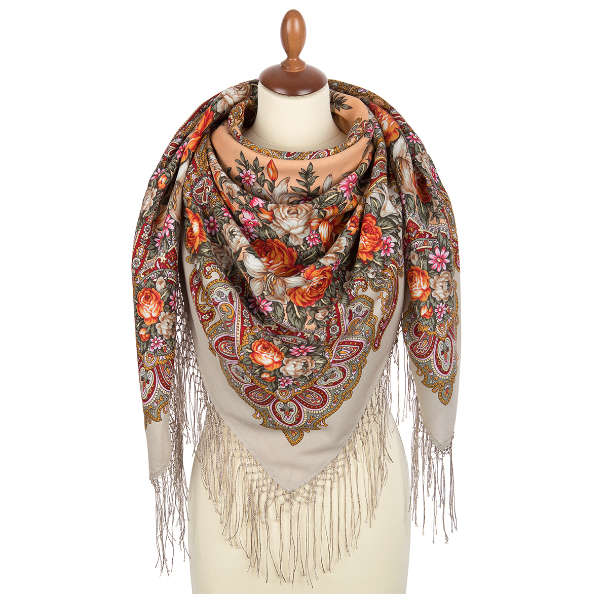 "Russian shawl ""Dawn on Don 1801-2"""