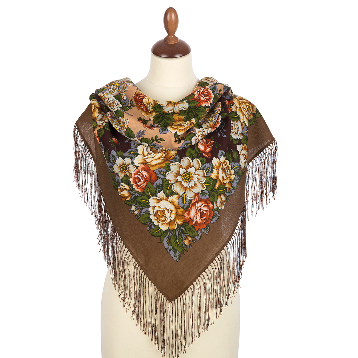 "Russian shawl ""City of Roses 1825-16"""