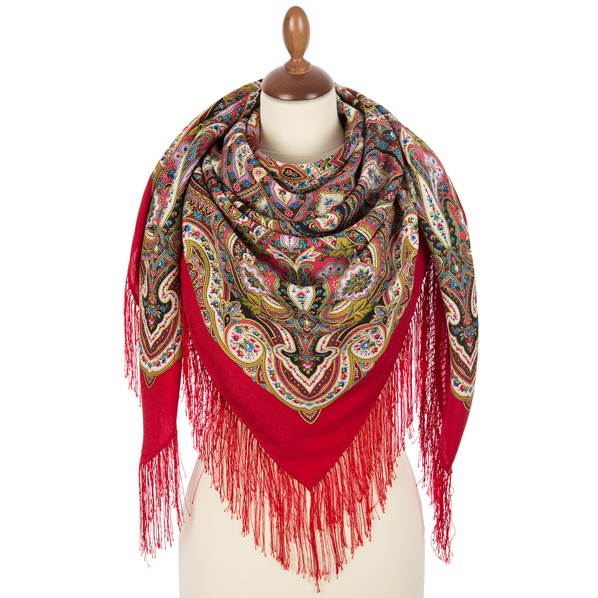 """Russian shawl """"Golden cage"""" 1826-5"""