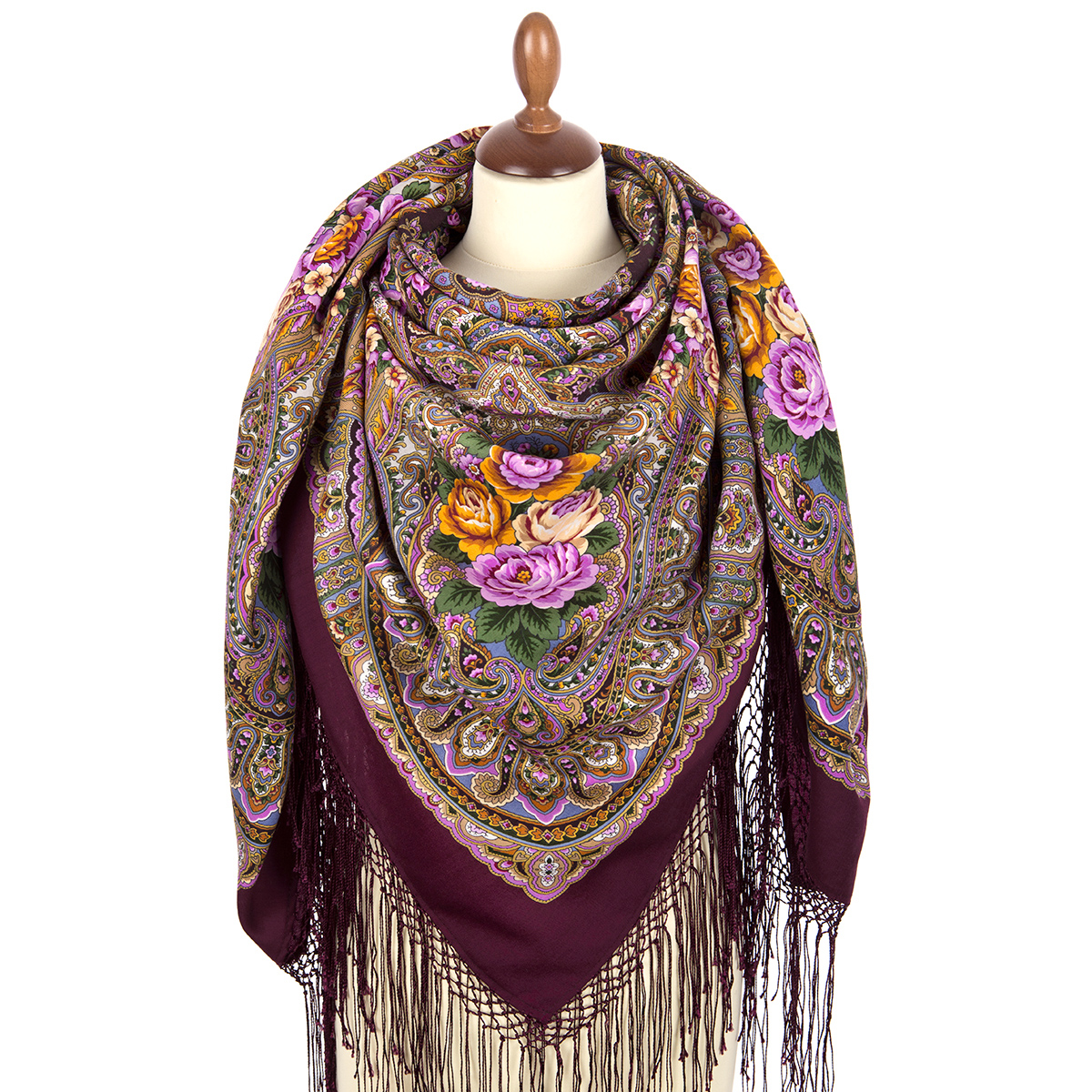 "Russian shawl ""Autumn bells 1845-8"""