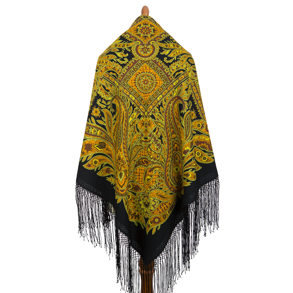 "Russian shawl ""Printed gingerbread 356-20"""