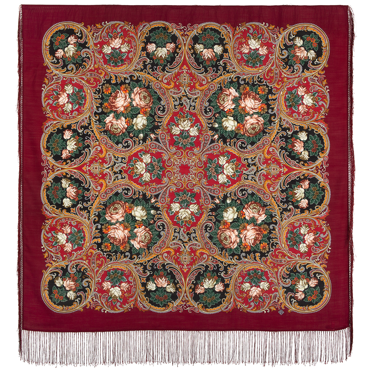 "Russian shawl ""The song of the going summer"" 1827-6"