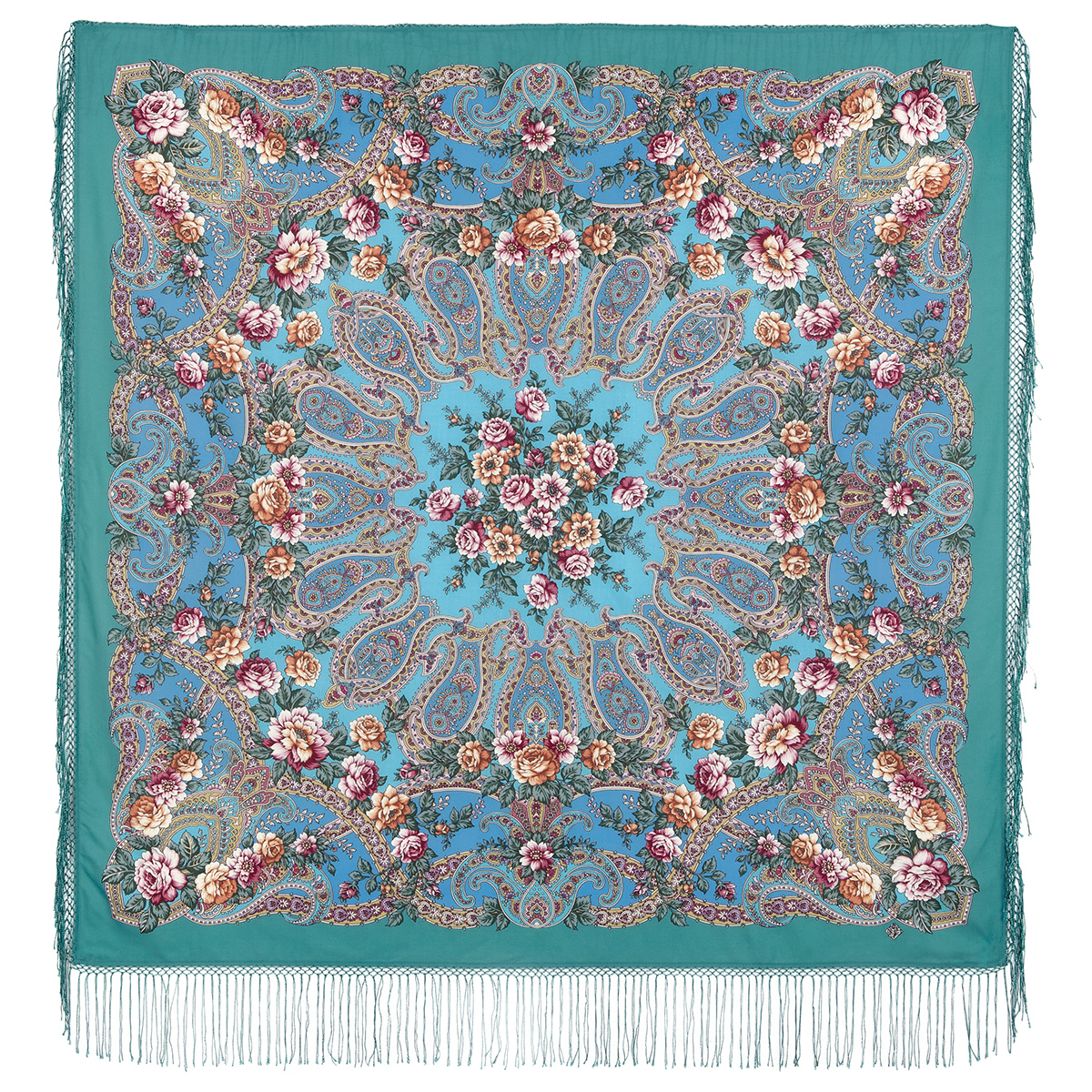 "Russian shawl ""The River of Love 1773-11"""