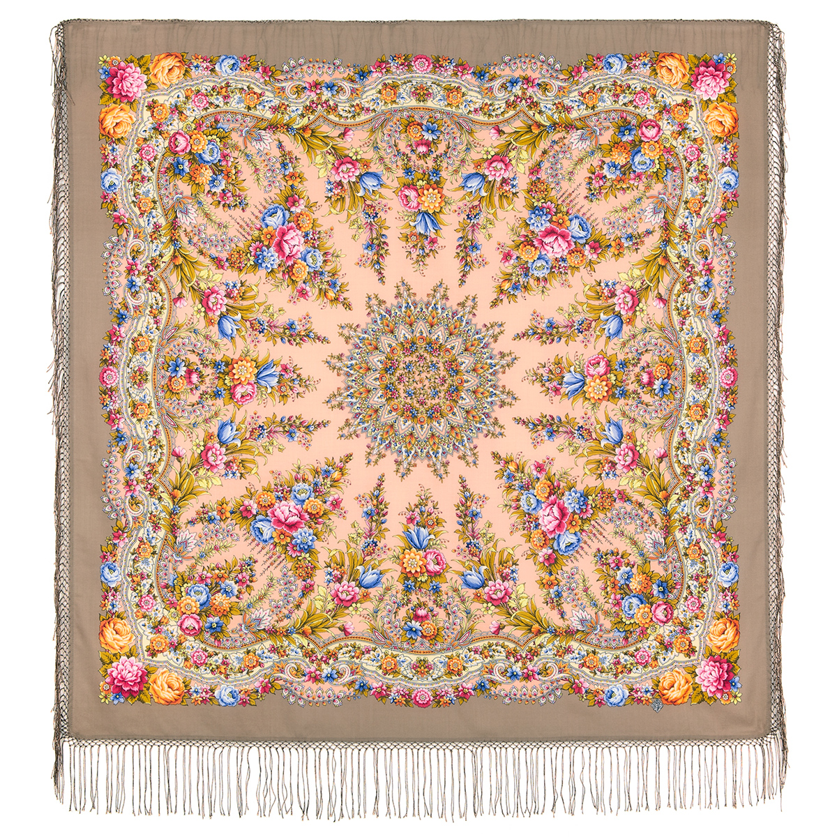 "Russian shawl ""Fire Festival 1739-17"""