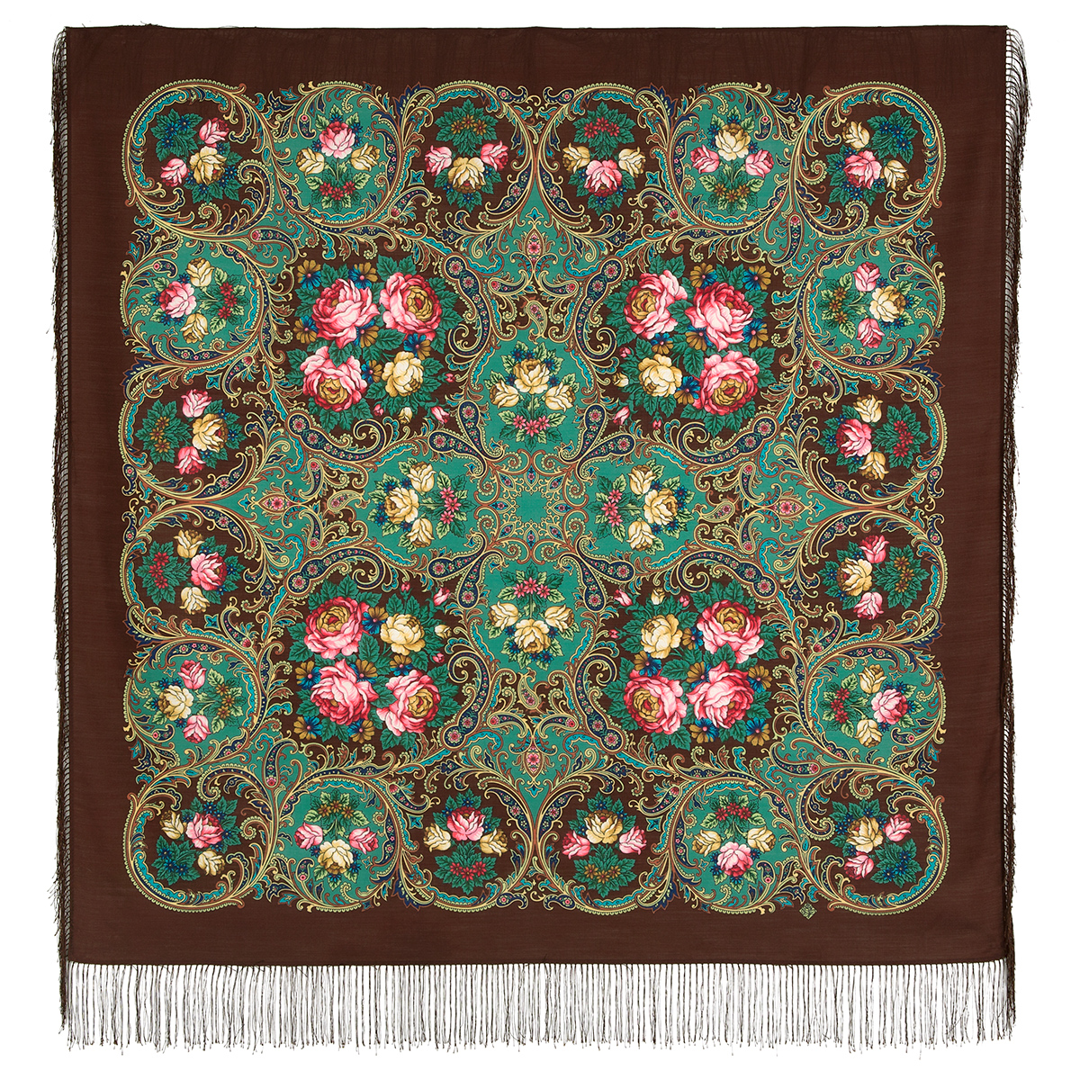 "Russian shawl ""The song of the going summer"" 1827-17"