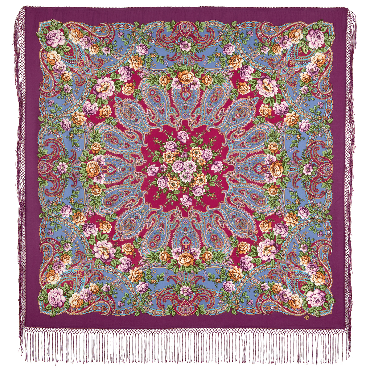 "Russian shawl ""The River of Love 1773-15"""