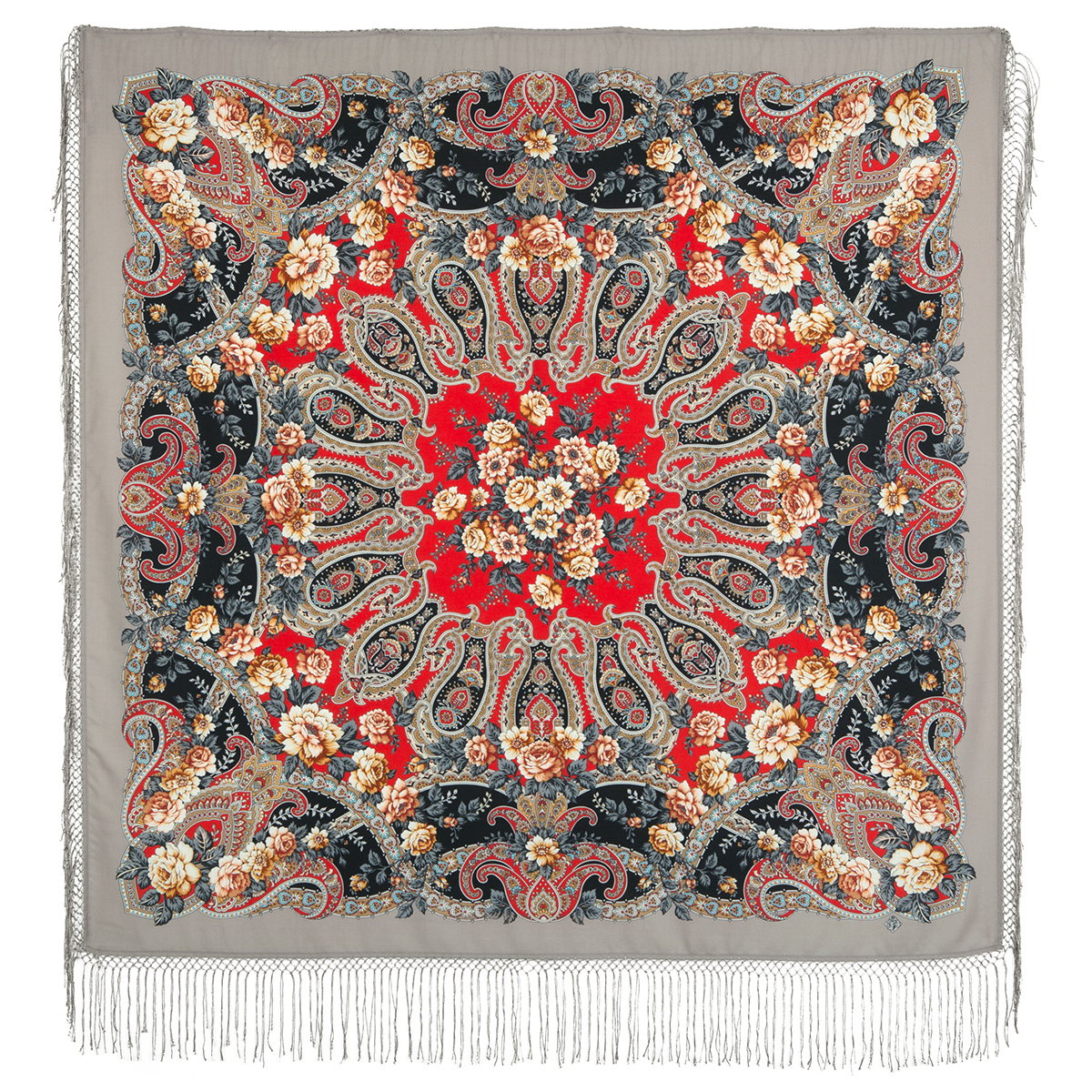 "Russian shawl ""The River of Love 1773-2"""