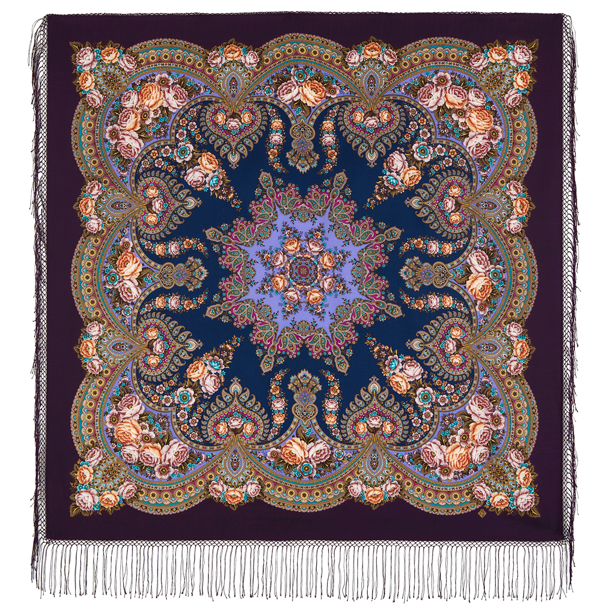 "Russian shawl ""Flame of the Heart 1786-8"""