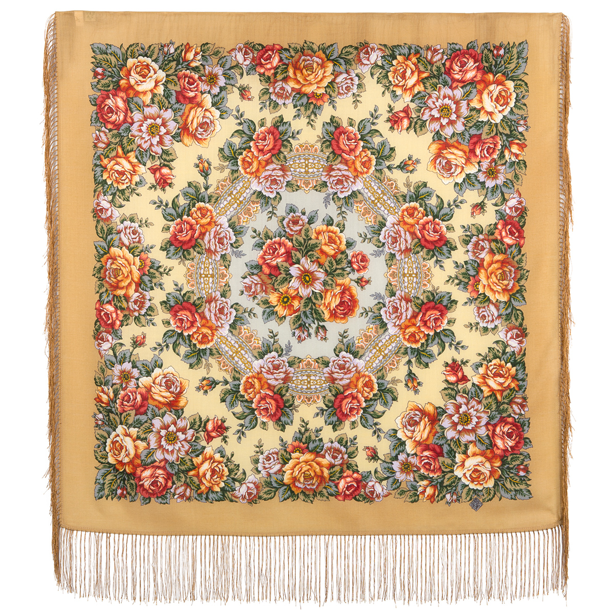 "Russian shawl ""City of Roses 1825-2"""