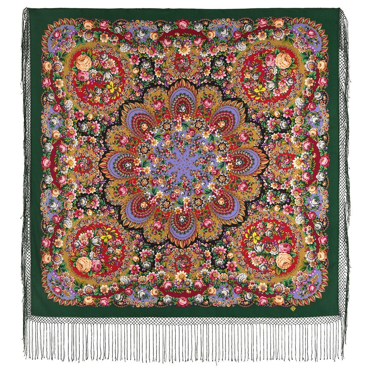 "Russian shawl ""Soul of a rose 1838-9"""