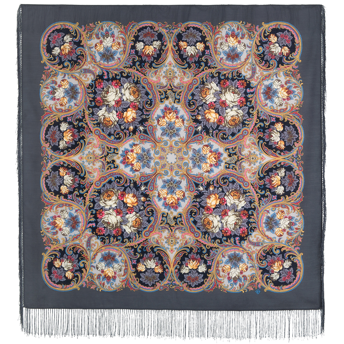 "Russian shawl ""The song of the going summer"" 1827-1"