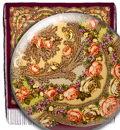 """Russian shawl """"Flowers under the snow 1099-7"""""""