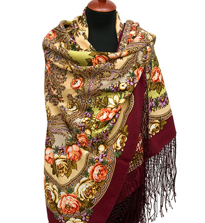 "Russian shawl ""Flowers under the snow 1099-7"""