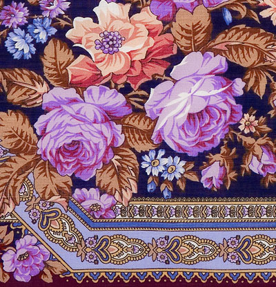 "Russian shawl ""Roses from Pavlovo 1341-7"""
