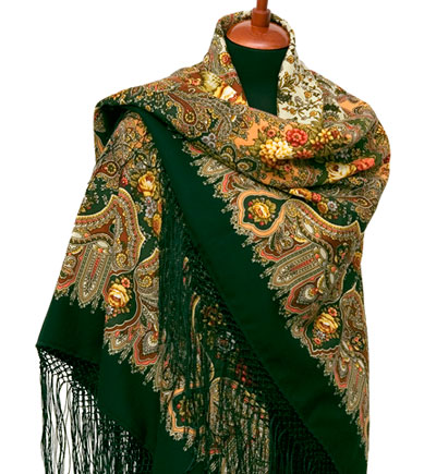 "Russian shawl ""Almonds 1369-10"""