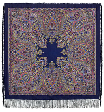 "Russian shawl ""East Kaleidoscope 1402-14"""