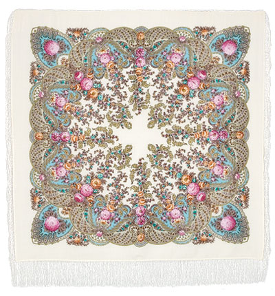 "Russian shawl ""Spring creek 1428-3"""