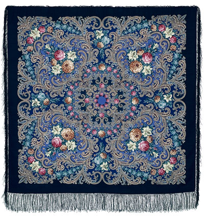 "Russian shawl ""The mystery of the heart 1437-14"""